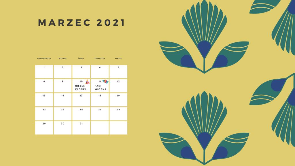 Kalendarz Marzec